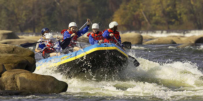 Whitewater Rafting on the James River in Richmond.