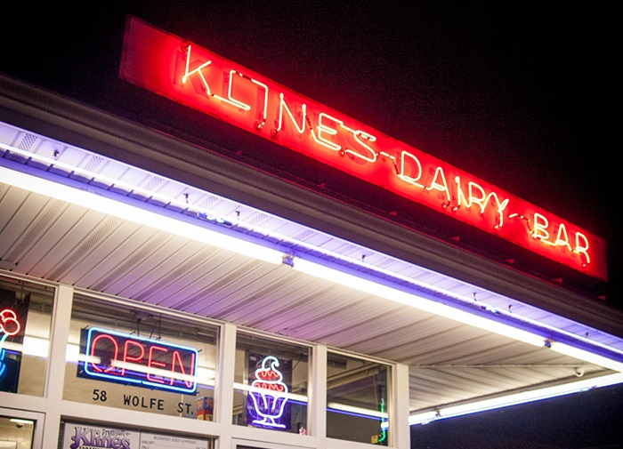 Kline's Dairy Bar is a take-out style ice cream bar. www.Virginia.org, Virginia Tourism Corporation