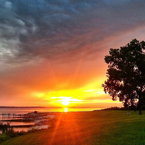 Sunset on Rappahannock River, Monaskon, Lancaster, Va by @mdzehner.