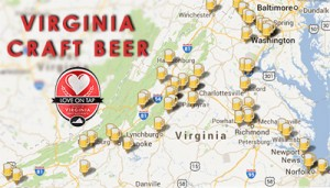 Click here for a map of Virginia craft breweries.