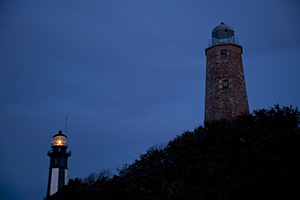 New and Old Cape Henry Lighthouses