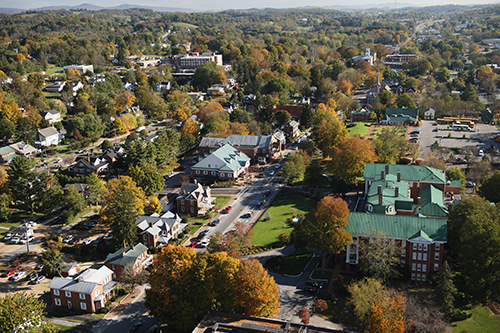 Aerial view of Abingdon in the fall. Image by CameronDavidson@CameronDavidson.com
