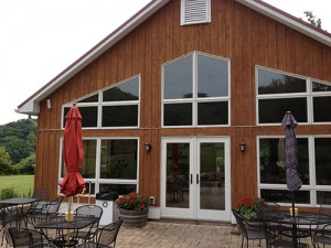 DuCard Vineyards' new tasting room is fully powered by solar, and all food waste is composted.