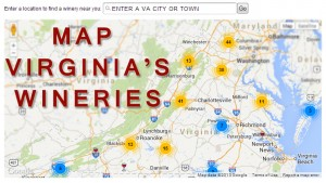 Virginia Wine Map