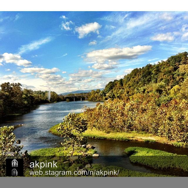 Lynchburg river view by @akpink