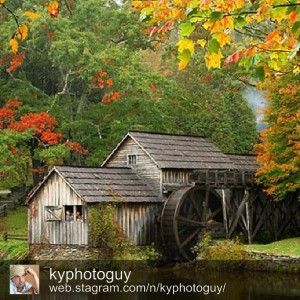 Mabry Mill is on the Blue Ridge Parkway. This image captured by @kyphotoguy.