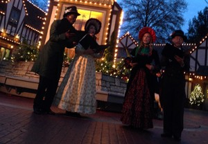 Carolers in England. Busch Gardens Christmas Town. Photo by Casey Higgins.