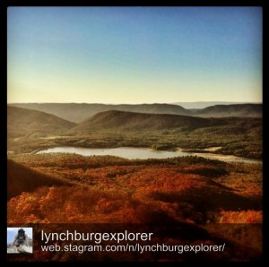 Lake Merriweather from View Rock at Goshen Pass by @lynchburgexplorer