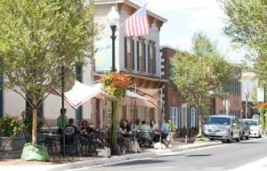 Dining in Old Town Manassas, Virginia