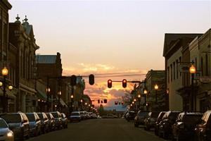 Downtown Culpeper, Virginia at Dusk