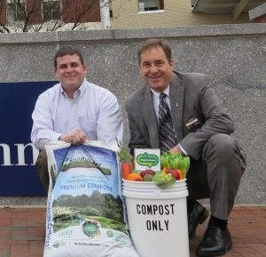 John Cario of Hilton Garden Inn Downtown Richmond with Marshall Hall of Natural Organics Processes Enterprise.
