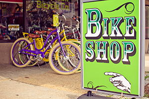 Bike shops like this one in Carytown can be found all over Richmond.