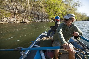 Canoeing down the New River with Tangent Outfitters