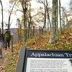 Appalachian Trail through Shenandoah National Park.