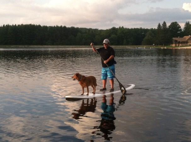 paddleboarding