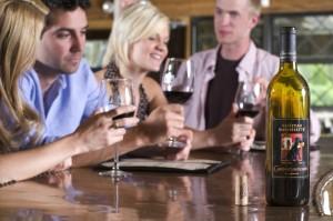 Wine tasting at Chateau Morrisette