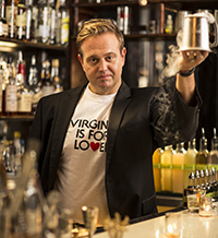 Todd Thrasher, of PX, Restaurant Eve, The Majestic, and other Alexandria restaurants, crafted his Atypical Chocolate Martini using a stout beer.