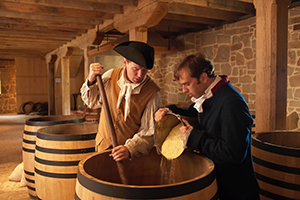 Re-enactors making whiskey at George Washington's Mount Vernon.    Photo: CameronDavidson@CameronDavidson.com