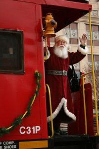 Santa Arrives by Rail in Roanoke