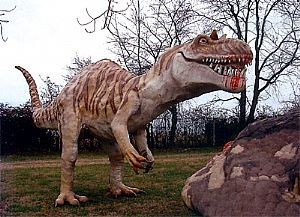 Megalosaurus at Dinosaur Land in White Post, Virginia.