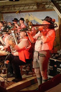 German Oompah Band at Mountain Lake Hotel