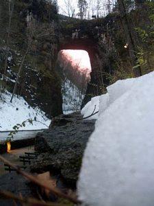 The Natural Bridge in Winter