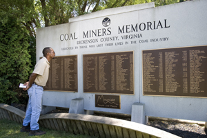 Coal Miners Memorial in Dickenson County