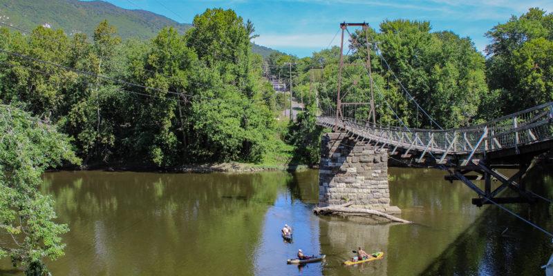 Virginia's swinging bridges