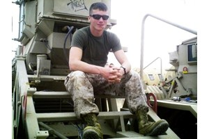 Cpl. J. B. Kerns in Afghanistan