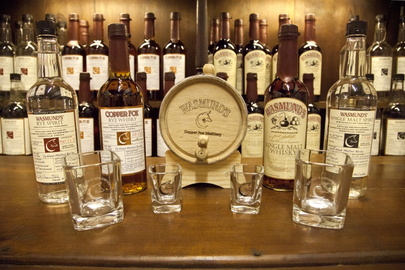 """Copper Fox Distillery in Sperryville is the only distillery in North America malting their own barley. Making """"Applewood-aged"""" Single Malt American whisky and """"Applewood-aged"""" Rye Whisky."""