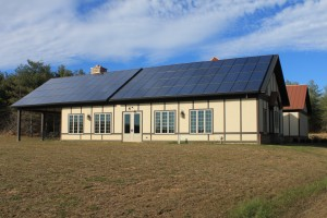 Solar panels provide 100% of the power at North Gate Vineyard.