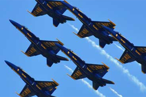 The Blue Angels Air Demonstration Squadron