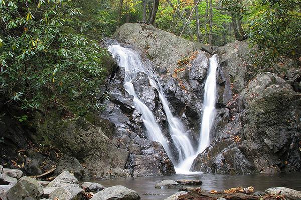 Falls along the Cabin Creek Trail