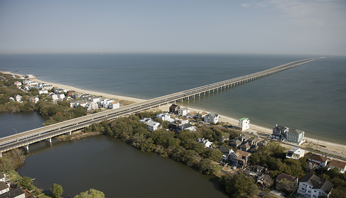 Chesapeake Beaches and the 17.6 mile Chesapeake Bay Bridge-Tunnel. Photo by CameronDavidson@CameronDavidson.com.