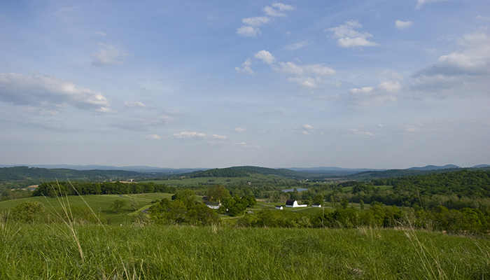 The view from Sky Meadows State Park