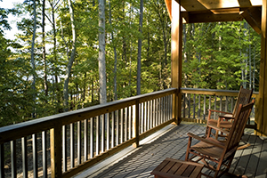 Cabin porch at Occoneechee State Park. (Photo must be credited: CameronDavidson@CameronDavidson.com)