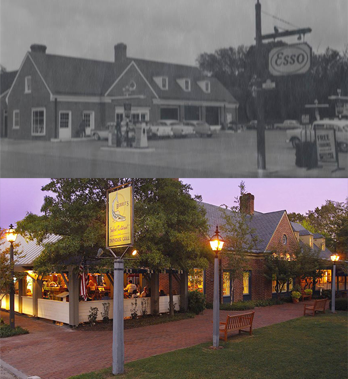 Berret's Seafood, Then and Now