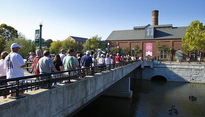 The Richmond Folk Festival on Brown's Island.