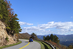 Scenic Blue Ridge Parkway.  Virginia Tourism Corporation, www.Virginia.org
