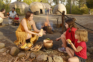 A museum of 17th-century Virginia history, the Jamestown Settlement explores Americaís first permanent English colony through living history in outdoor re-creations. Ward Elementary School field trip.Virginia Tourism Corporation, www.Virginia.org