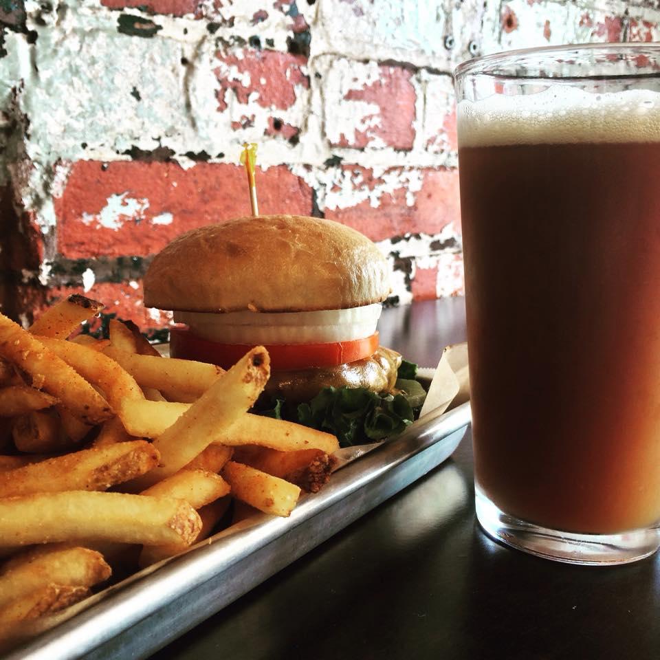 Pure Eats burger & fries