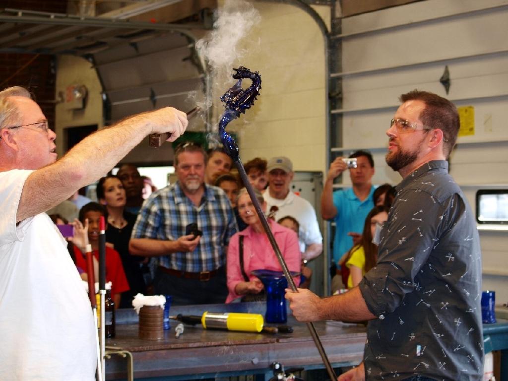Annual hot glass festival held at Sunspots Studio in Staunton.