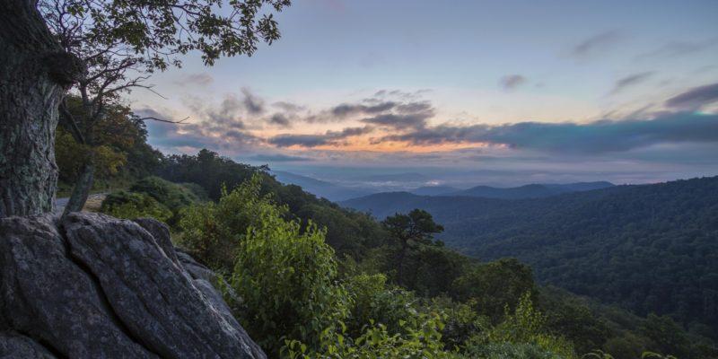Hazel Mountain Overlook in Shenandoah National Park