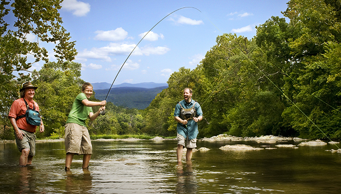 Fishing on the Roanoke River