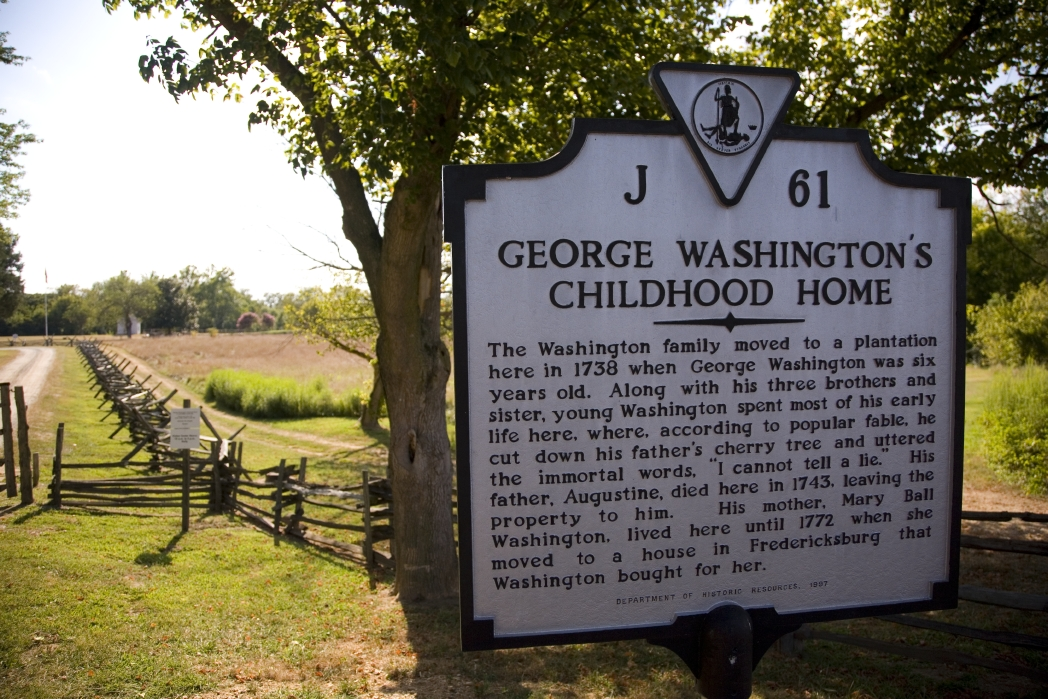 George Washington's childhood home