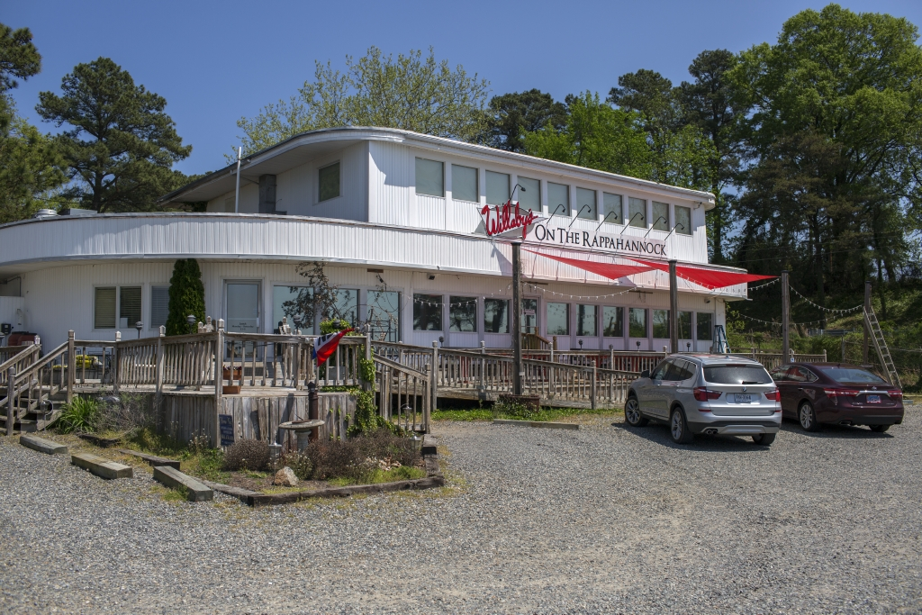 Willaby's serves lunch and dinner with a view of the water.