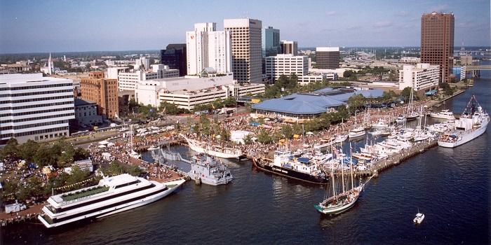 Aerial of Waterfront-Harborfest.