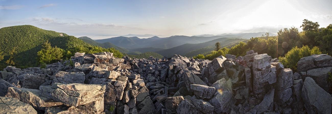 Black rock summit panoramic