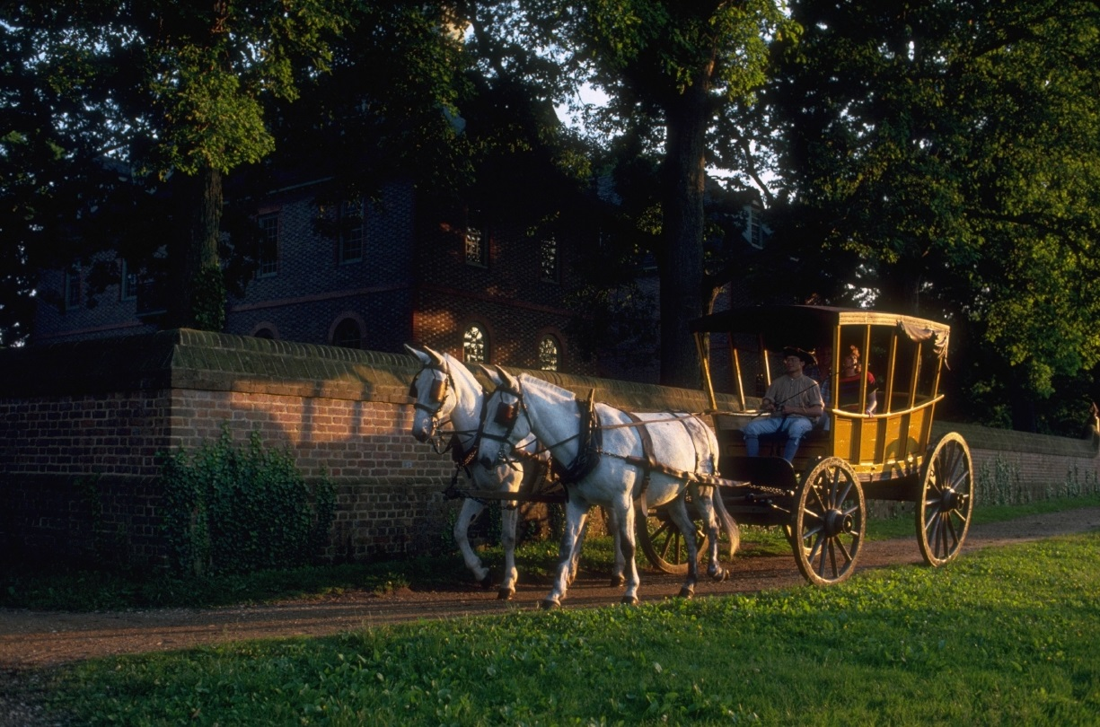 Carriage ride at Colonial Williamsburg.