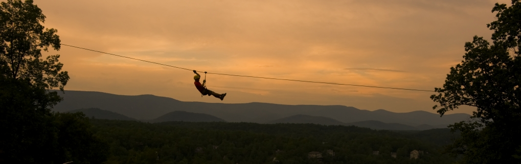 The Zip Line at Bryce Resort.